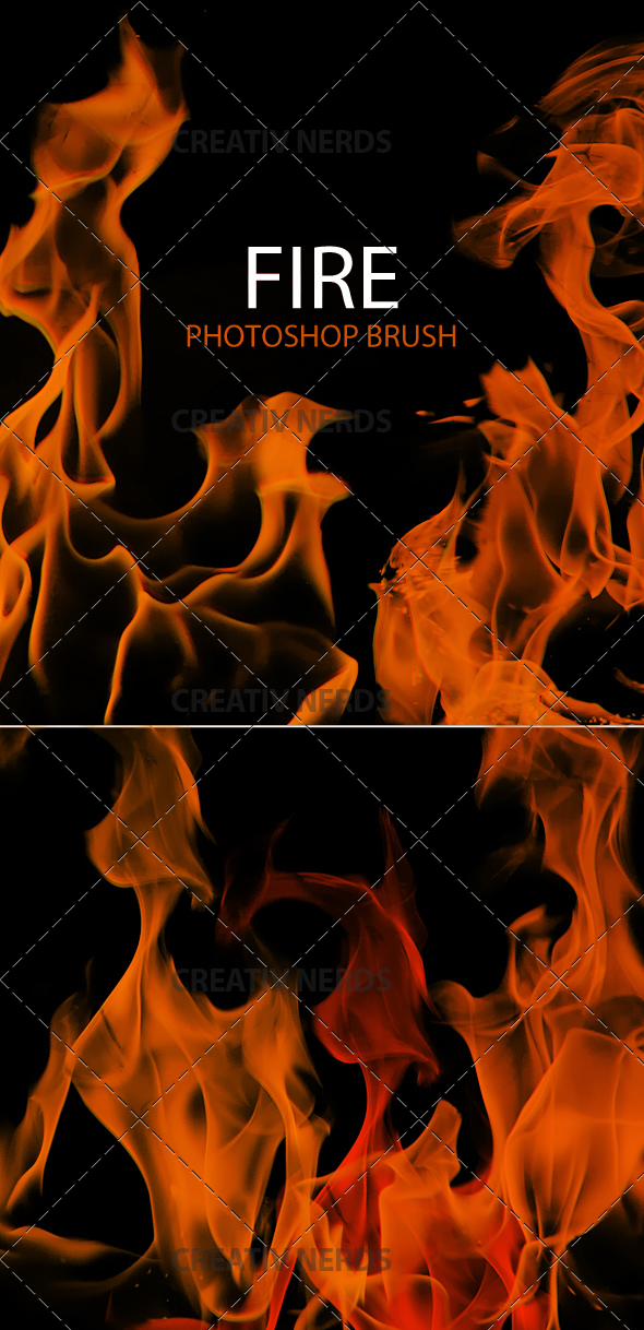 fire brush preview2 10 Fire Flames Photoshop Brush