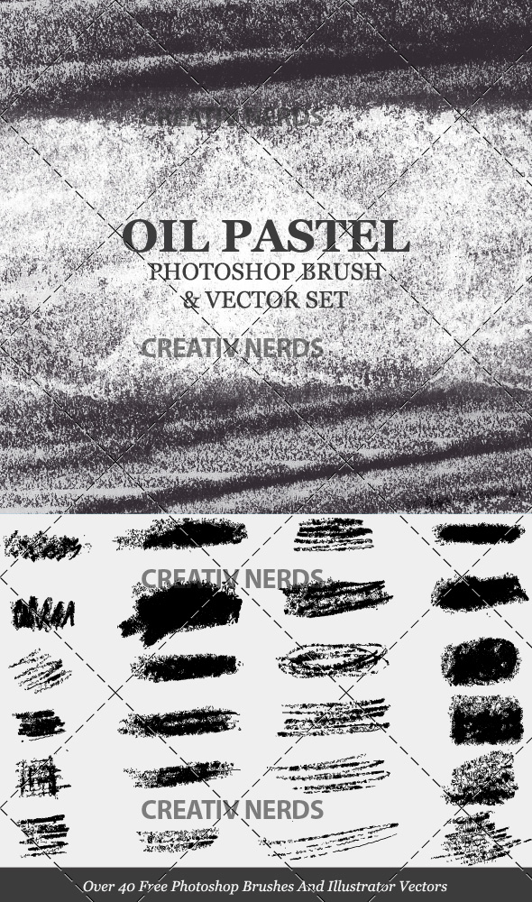 oil pastel brushes preview 20+ Oil Pastel Strokes And Smudges PS Brush