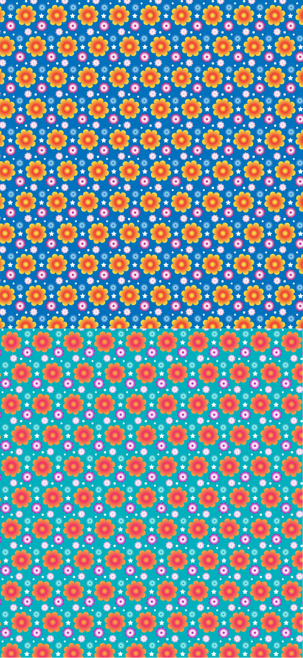 vibrant pattern Vibrant Summer Seamless Vector And PS Pattern